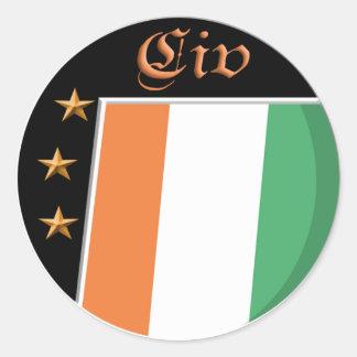 Cote d' Ivoire flag sticker