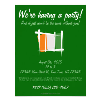 Cote d Ivoire Ivory Coast Brush Flag Personalized Invitations