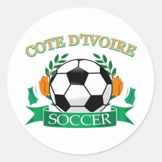 Cote D' Ivoire Soccer Designs Classic Round Sticker