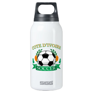 Cote D' Ivoire Soccer Designs Insulated Water Bottle