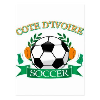 Cote D' Ivoire Soccer Designs Postcard