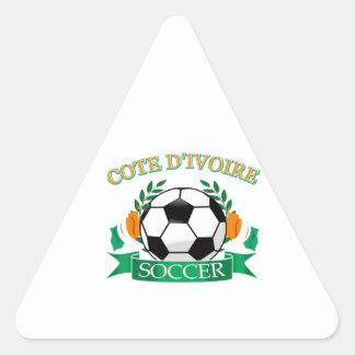 Cote D' Ivoire Soccer Designs Triangle Sticker
