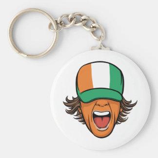 Cote d Ivoire Sports Fan Keychain