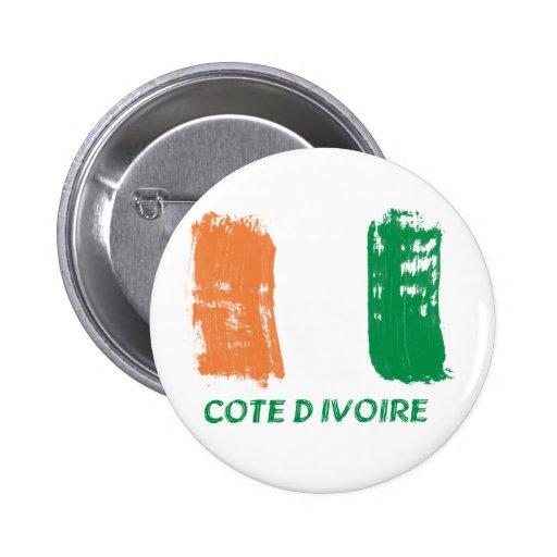 Cote D' Ivore Flag design Pinback Buttons