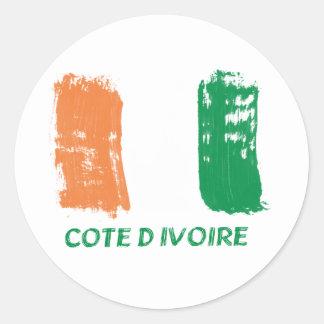 Cote D' Ivore Flag design Classic Round Sticker