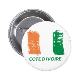 Cote D' Ivore Flag design Pinback Button