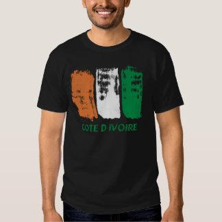 Cote D' Ivore Flag design T-Shirt