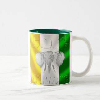 Cote d Ivore flag soccer football tees and gear Two-Tone Coffee Mug