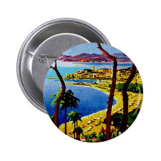 ~ Cote d'Azur de Cannes Pin Redondo De 2 Pulgadas