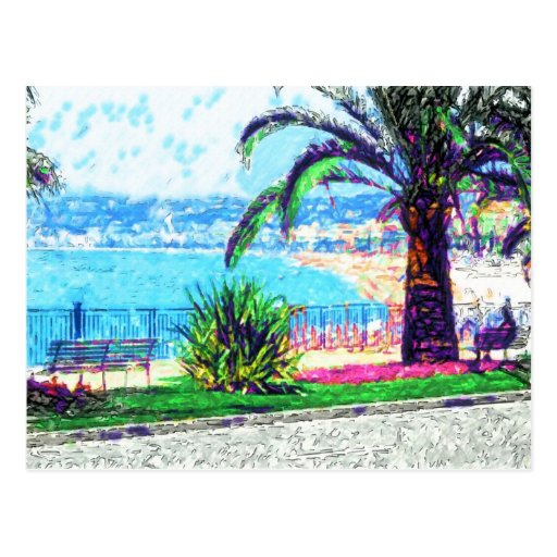 Cote d'Azur - deseo usted estaba aquí Postales