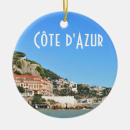 Côte d'Azur in Nice, France Ceramic Ornament