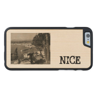 COTE D'AZUR - Nice 'Promenade des Anglais' 1950 Carved Maple iPhone 6 Slim Case