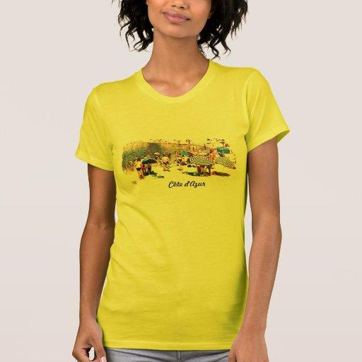 Côte d'Azur retro beach scene t-shirt