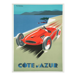 Cote D'Azure - French Riviera Travel Postcard