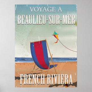 Cote des Basques France travel poster