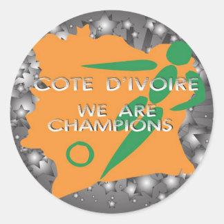 Cote d'Ivoire 2010 Classic Round Sticker