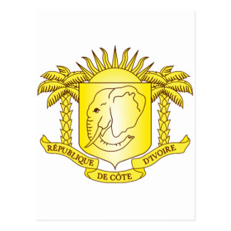 Cote d'Ivoire Coat of arms CI Postcard