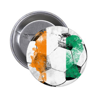 Cote d'Ivoire Distressed Soccer 2 Inch Round Button