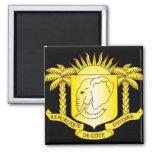 côte d'ivoire emblem 2 inch square magnet