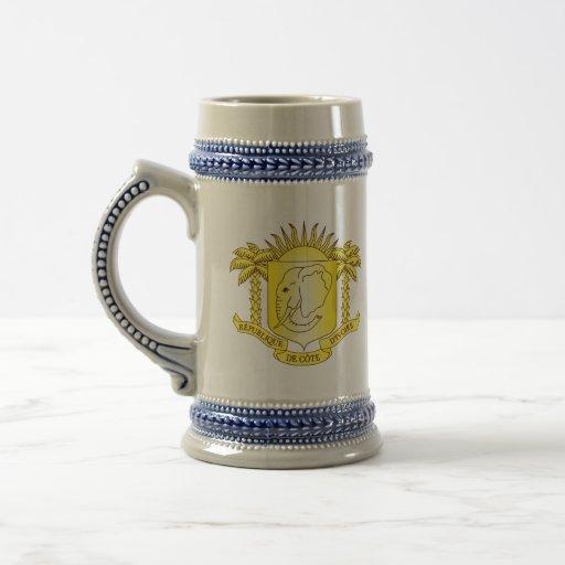 côte d'ivoire emblem coffee mugs