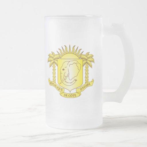 côte d'ivoire emblem mug