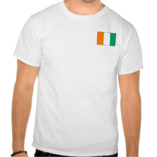 Cote d'Ivoire Flag and Map T-Shirt