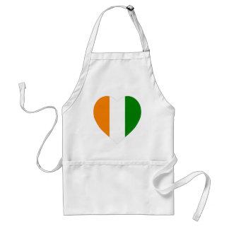 Cote D'Ivoire Flag Heart Apron