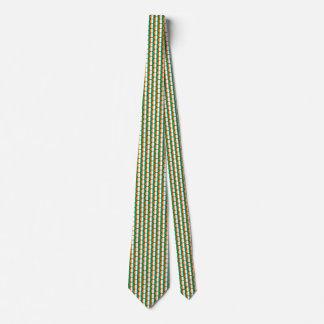 Cote d'Ivoire Flag Honeycomb Tie