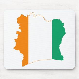 Cote d'Ivoire Flag map CI Mouse Pad