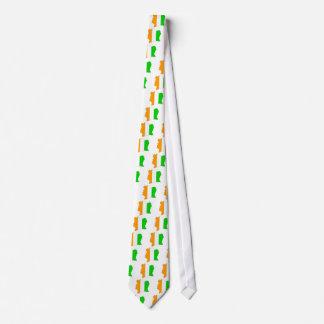 Cote Divoire Flag Map full size Tie