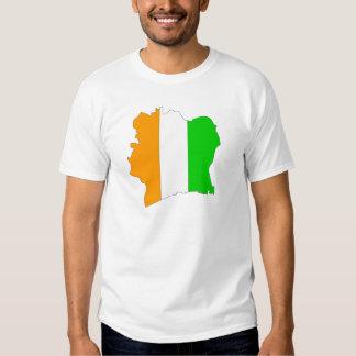 Cote Divoire flag map T Shirt