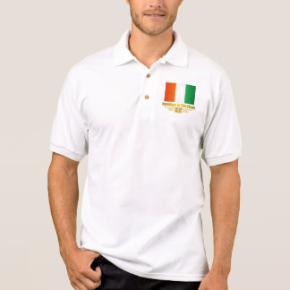 Cote d'Ivoire Flag Polo T-shirt