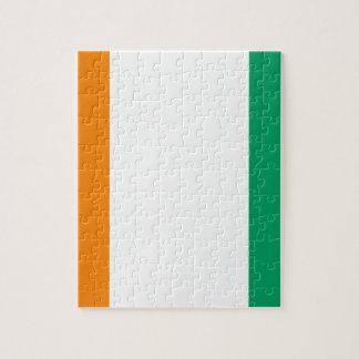 Cote D'Ivoire Flag Puzzle