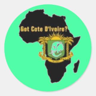 """Côte d'Ivoire"" Flag T-Shirt  And Etc Classic Round Sticker"