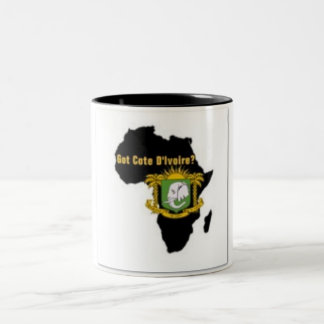"""""""Côte d'Ivoire"""" Flag T-Shirt  And Etc Two-Tone Coffee Mug"""