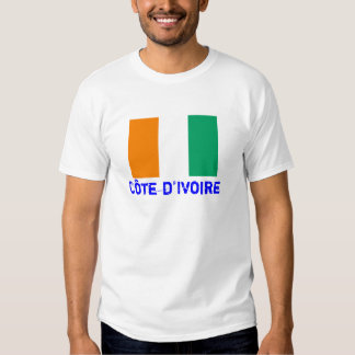 COTE D'IVOIRE*- Flag T-shirt (Customizable)