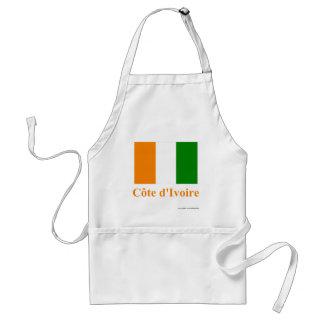 Cote D'Ivoire Flag with Name Apron