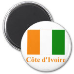 Cote D'Ivoire Flag with Name Fridge Magnets