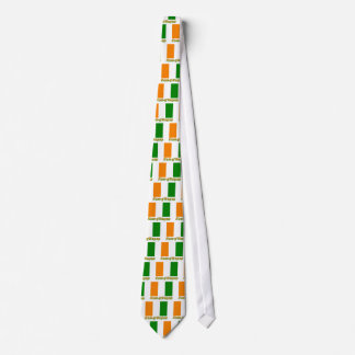 Cote d'Ivoire Flag with name in Russian Tie