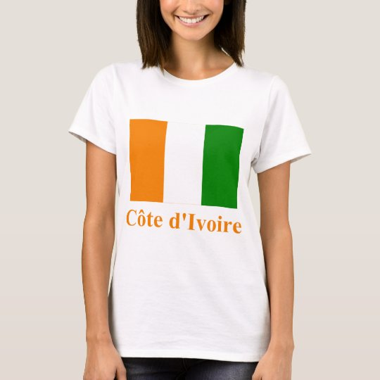 Cote D'Ivoire Flag with Name T-Shirt