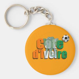 Côte d'Ivoire football Les Éléphants soccer gifts Basic Round Button Keychain