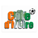 Côte d'Ivoire football Les Éléphants soccer gifts Postcard