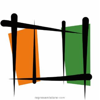Côte d'Ivoire Ivory Coast Brush Flag Cutout