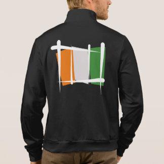 Cote d'Ivoire Ivory Coast Brush Flag Jacket