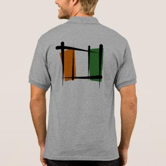 Côte d'Ivoire Ivory Coast Brush Flag Polo Shirt