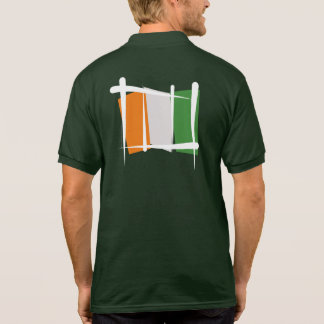 Cote d'Ivoire Ivory Coast Brush Flag Polo T-shirt