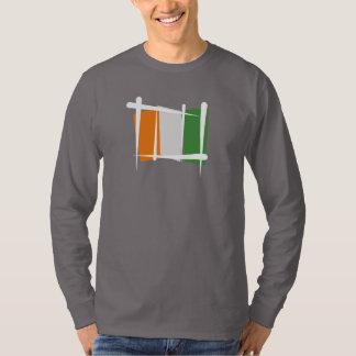 Cote d'Ivoire Ivory Coast Brush Flag T-shirts