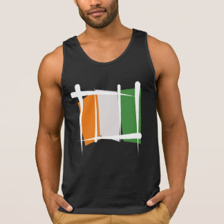 Cote d'Ivoire Ivory Coast Brush Flag Tanktops