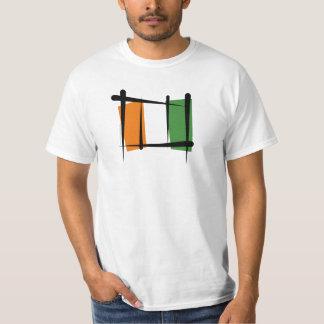 Cote d'Ivoire Ivory Coast Brush Flag Tshirts