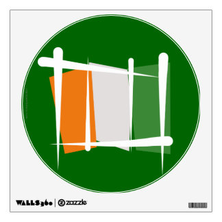 Cote d'Ivoire Ivory Coast Brush Flag Wall Decal